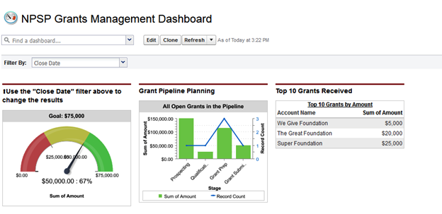 grant reporting template - reports and dashboards and graphs oh my bigger boat