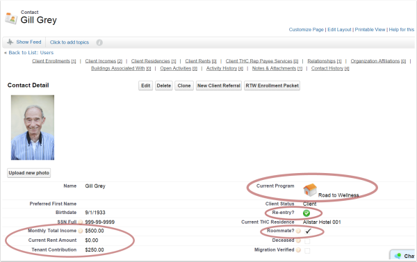 Salesforce view of affordable housing client