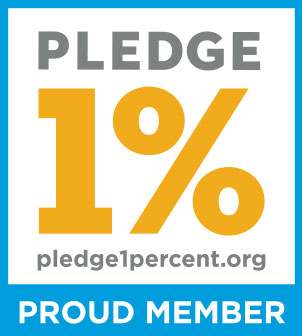 Pledge 1%: Proud Member - pledge1percent.org